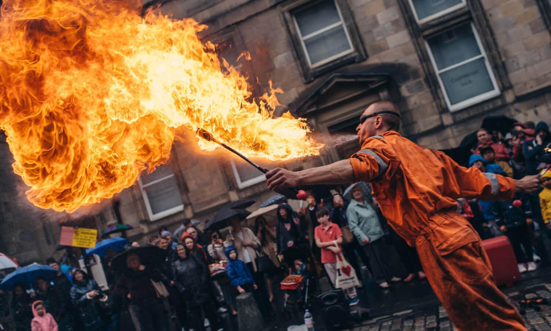 Street Performer at the Edinburgh Festival Fringe, Royal Mile
