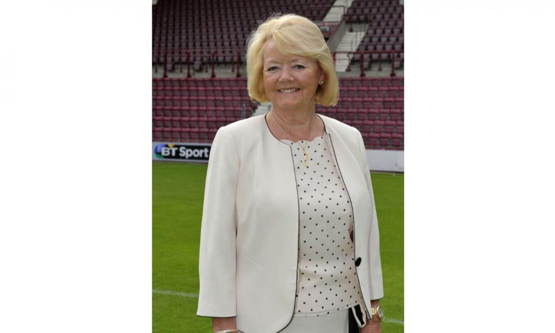 Ann Budge at Tynecastle Stadium, credit Heart of Midlothian FC