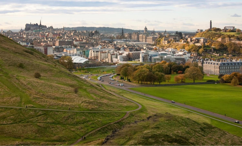 View of Edinburgh from Arthur's Seat.