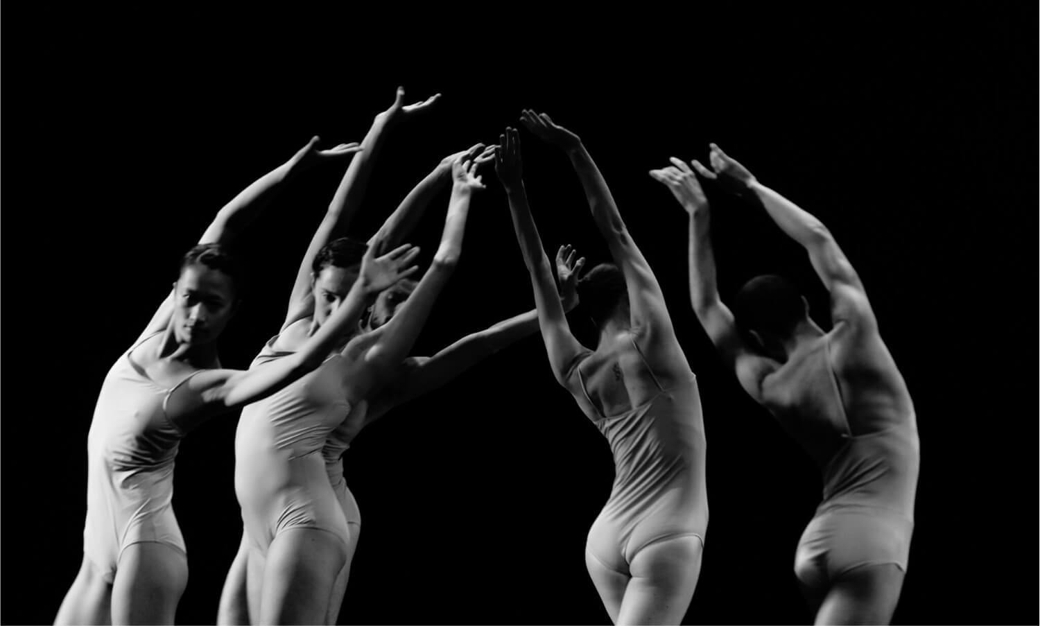 Dancers with their arms in air as part of the performance of Love Chapter at EIF (c) Ryan Buchanan