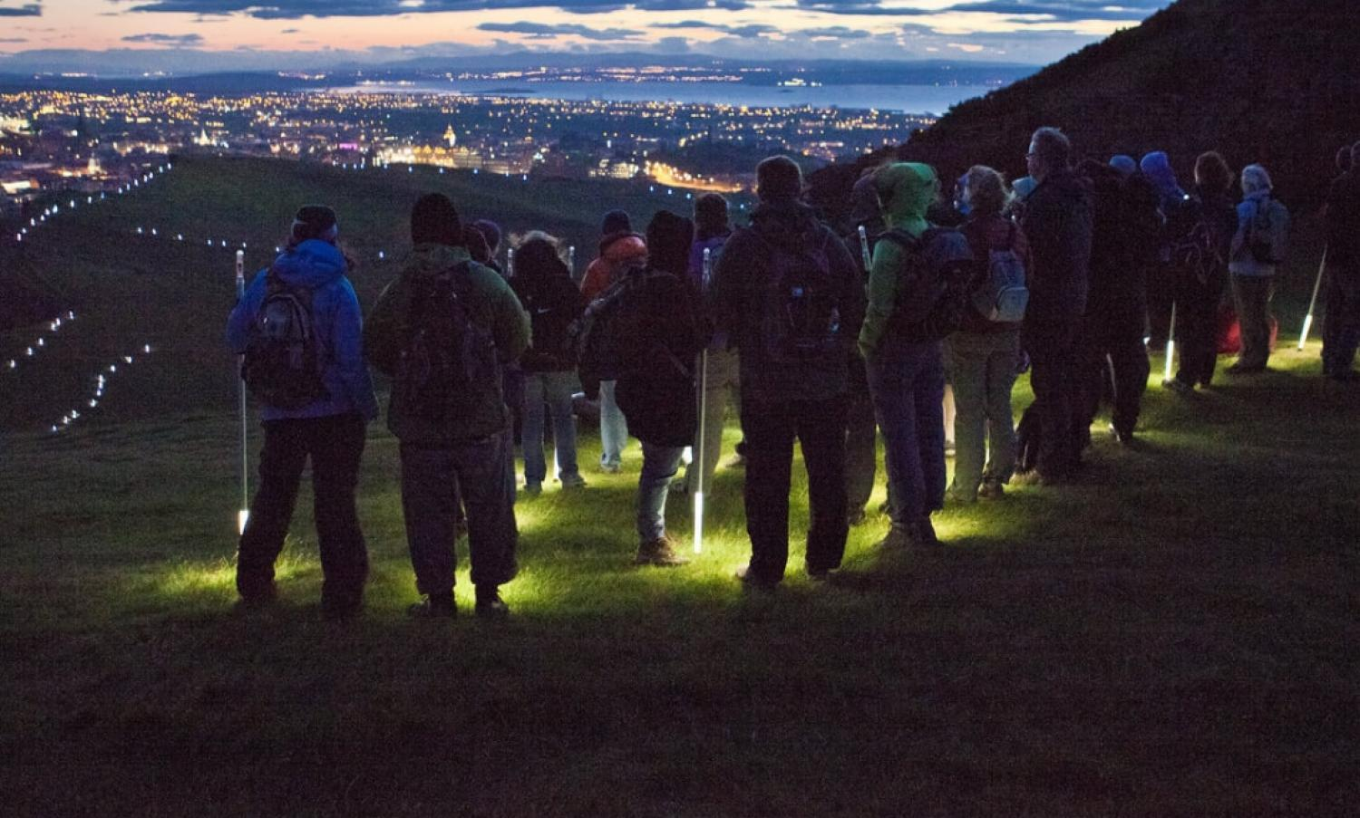 NVA's Speed of Light event on Arthur's Seat, Edinburgh.