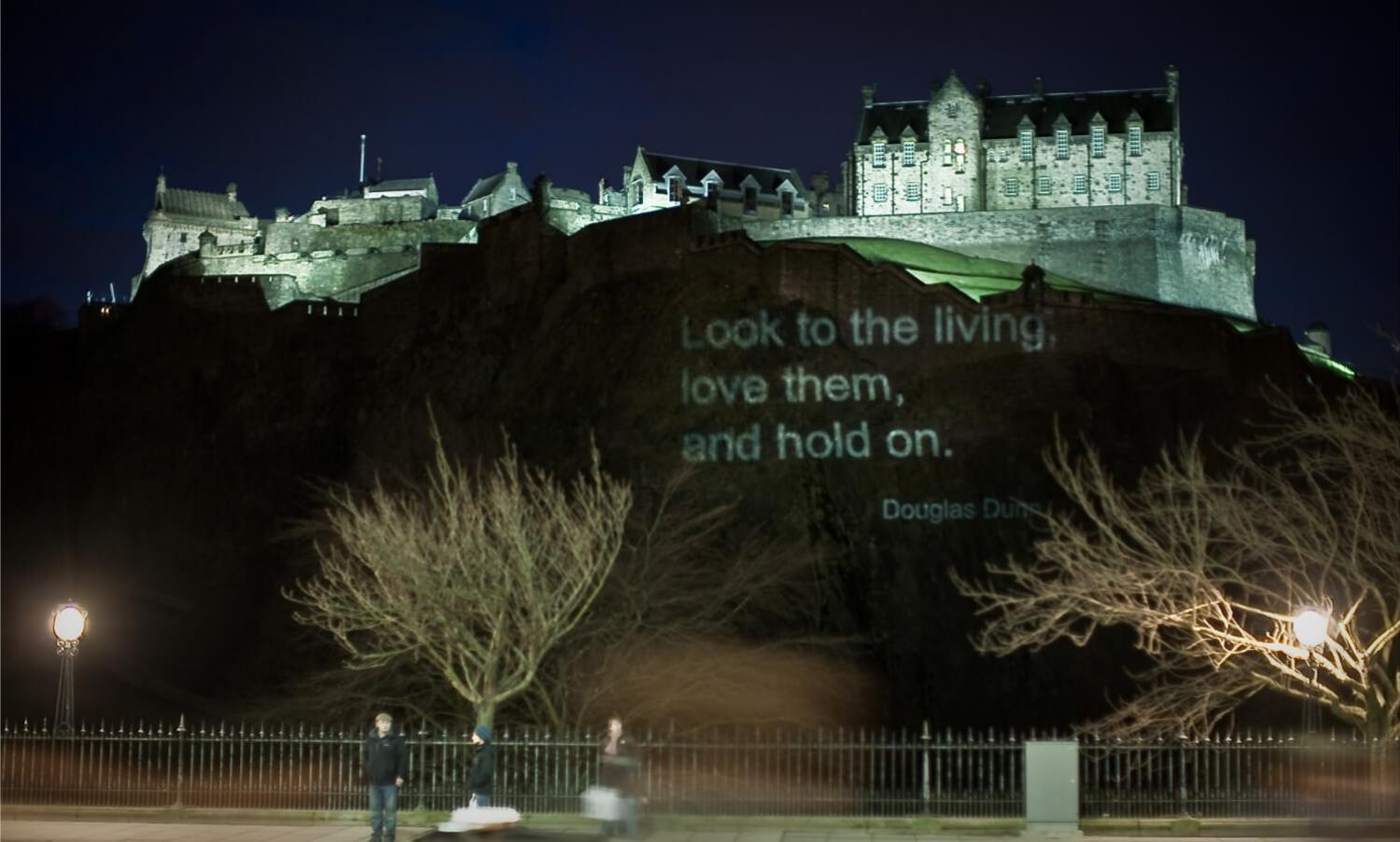 A Poetry Project on Edinburgh Castle - City of Literature. Photo by Chris Scott-