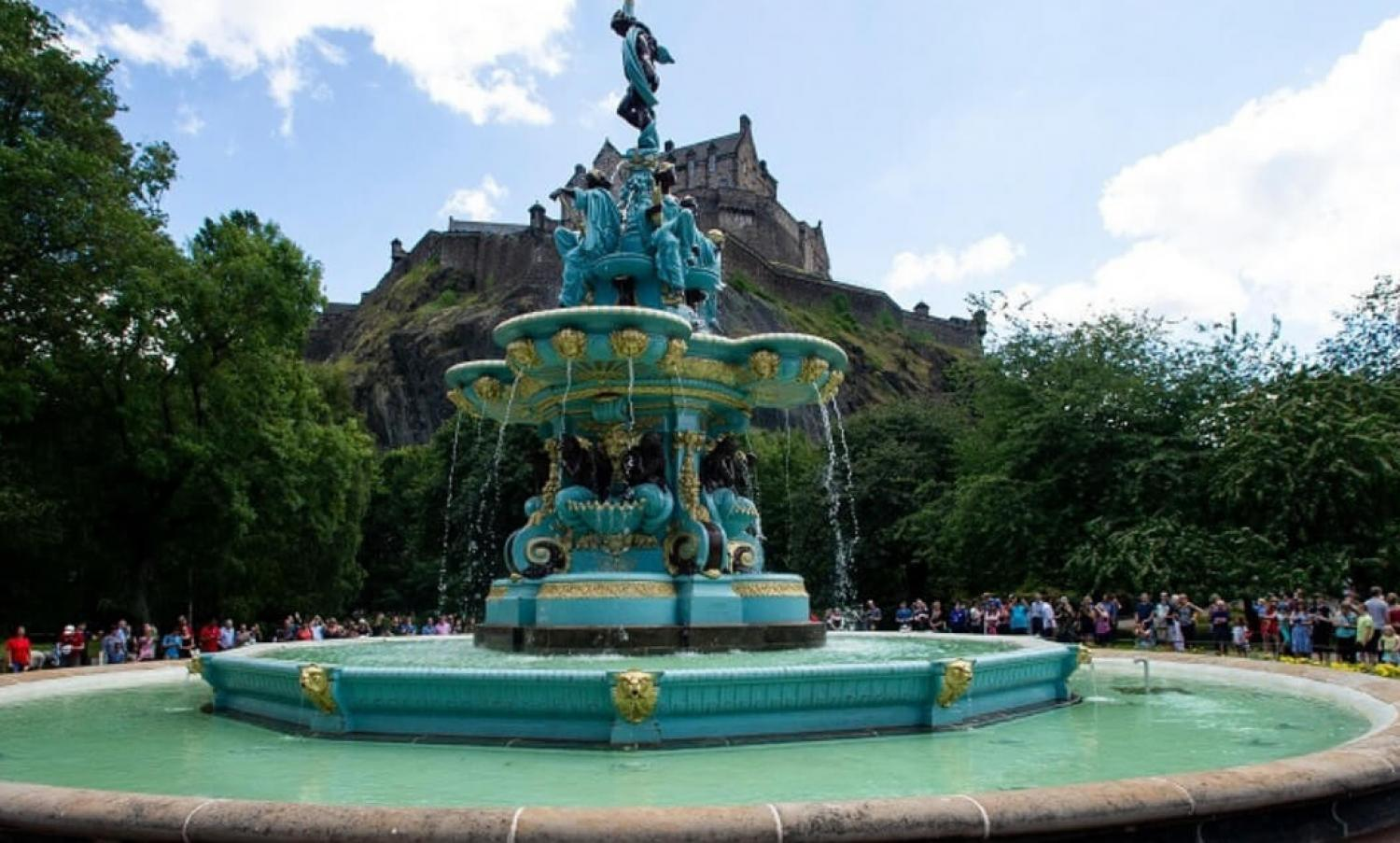 Ross Fountain in West Princes Street Gardens, Edinburgh.