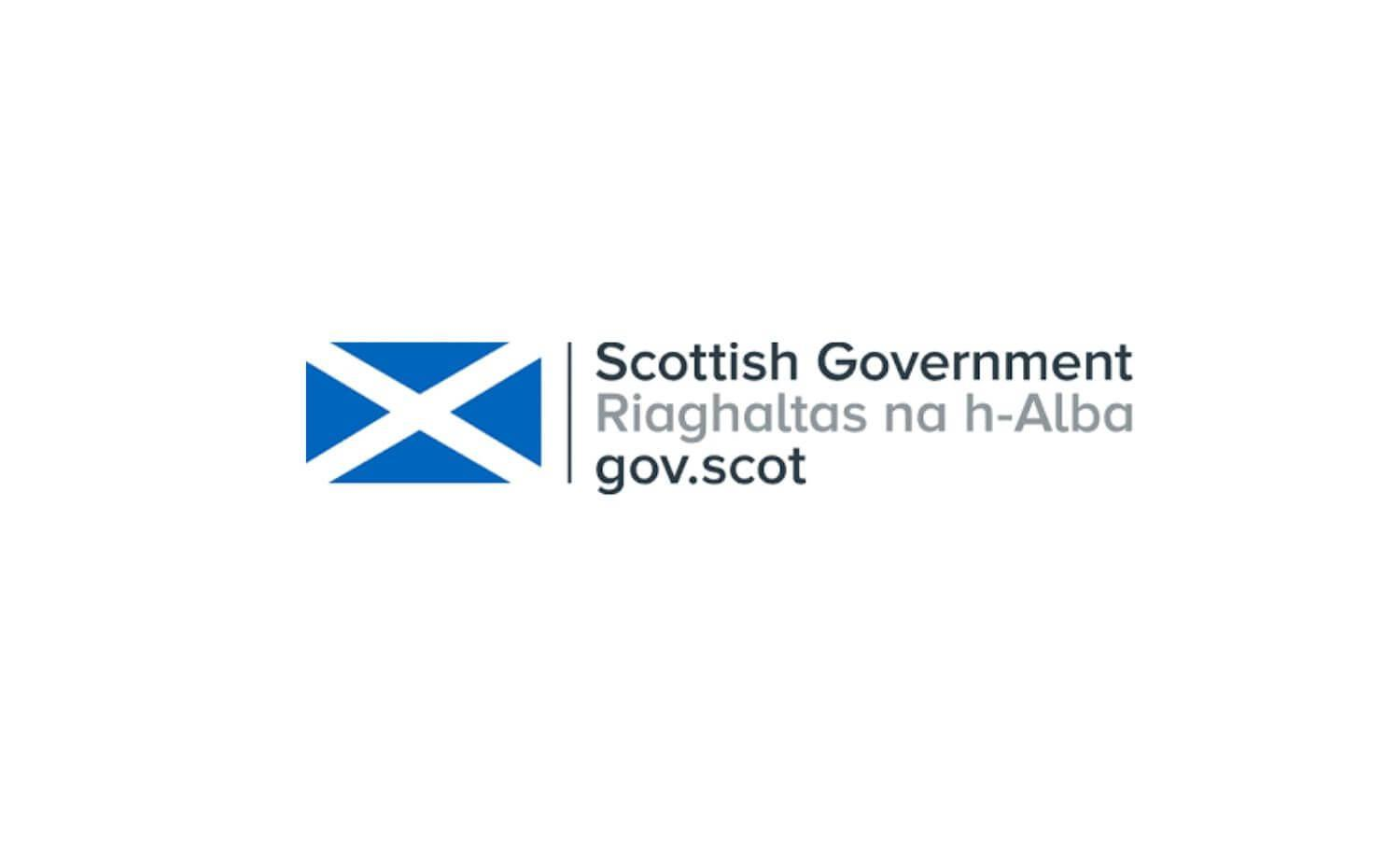 Scottish Government logo with Saltire Flag