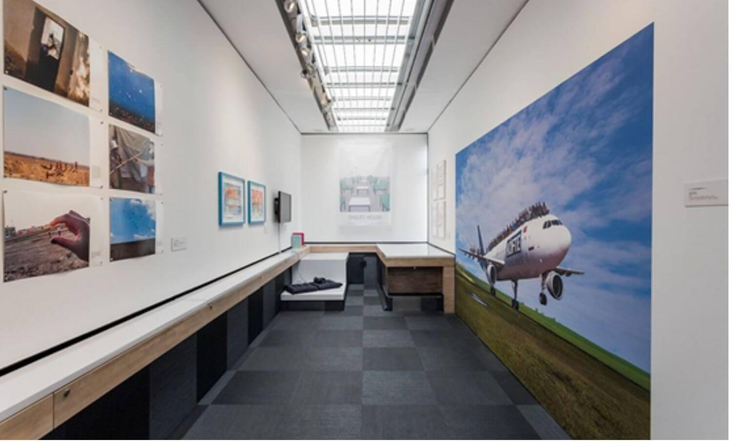 Travelling Gallery installation view - Spring 2019 Exhibition 'Displaced'