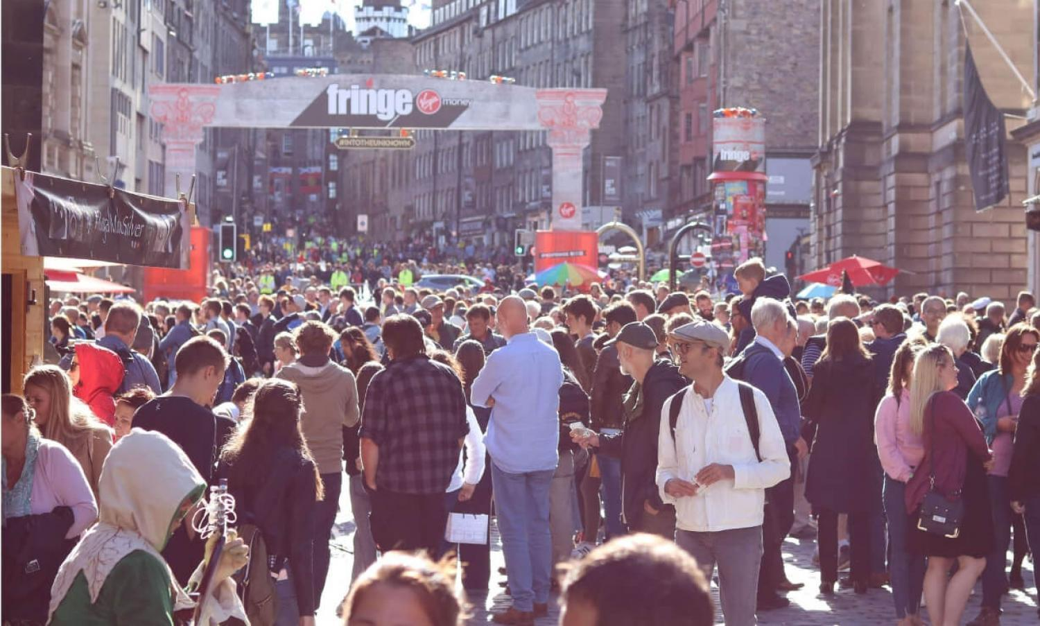 Street events at the Fringe Festival, High Street