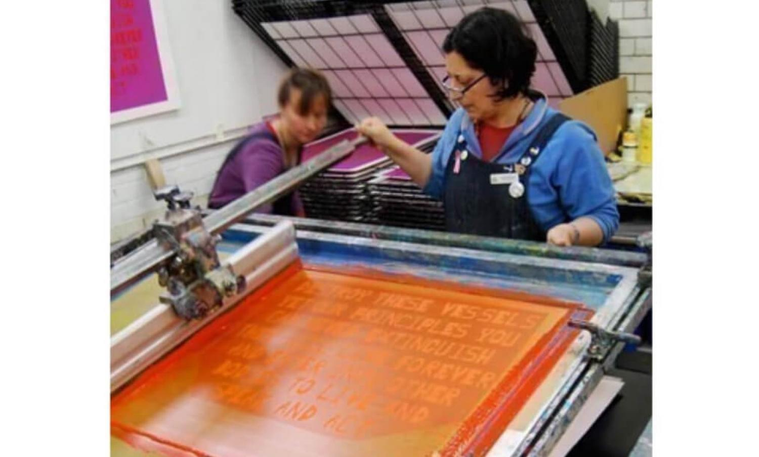 Edinburgh Printmakers screen printing