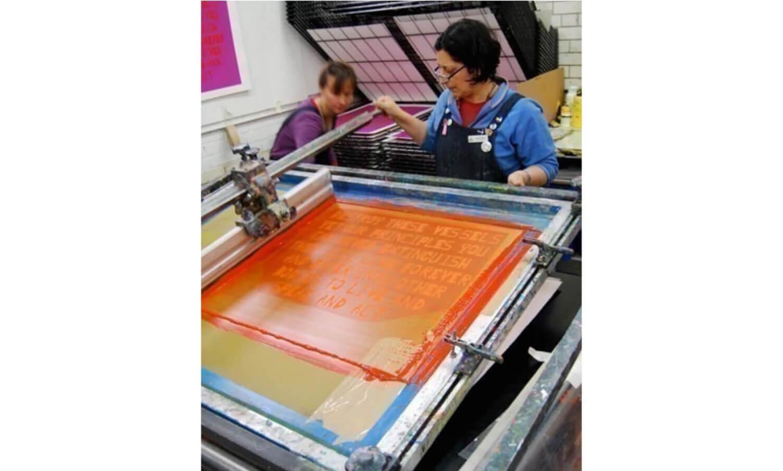 Waterbased screenprinting at the Edinburgh Printmakers