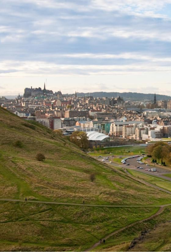 View of Edinburgh from Arthur's Seat.