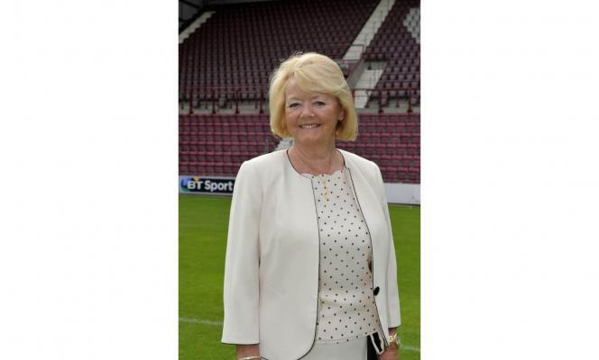 Ann Budge at Tynecastle Stadium, credit Heart of Midlothian FC