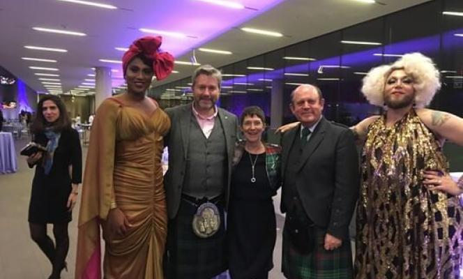 The Lord Provost and Director of Culture at the World Cities Culture Forum in San Francisco.